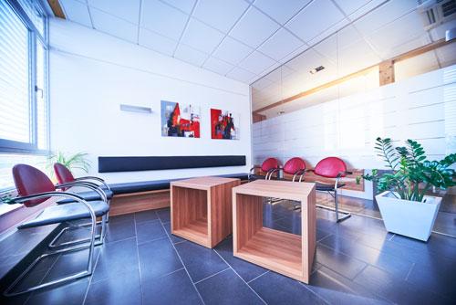 Dr. Werdecker&Partner Wartebereich Zahnarztpraxis